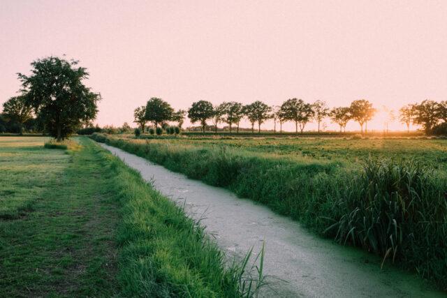 zonsondergang Eeuwselse loop